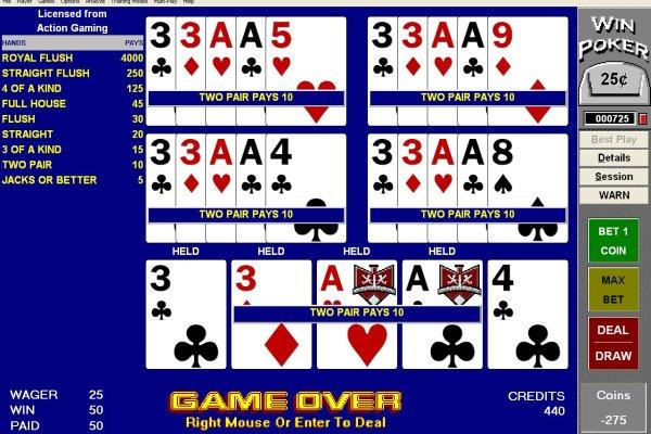Winpoker Video Poker training software
