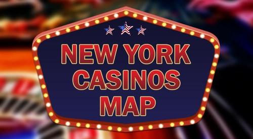 New York casinos map