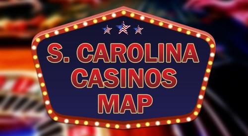 South Carolina casinos map