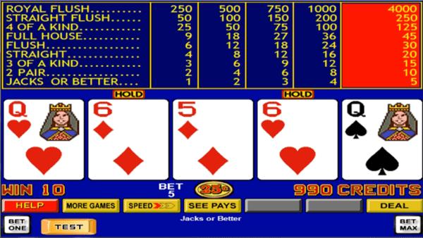 9/6 jacks or better video poker