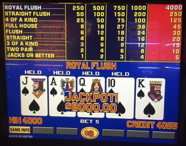 $8,000 Royal Flush