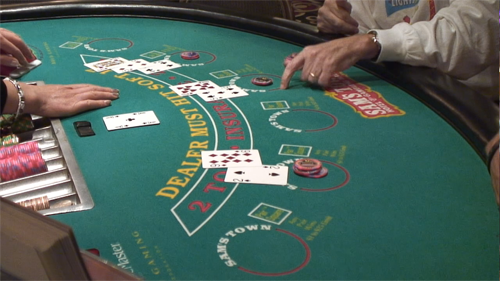 """How to play Blackjack: """"hit"""" signal"""