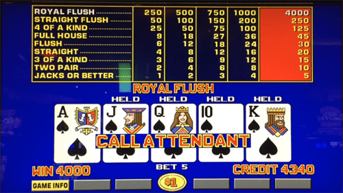 A $4,000 royal flush!