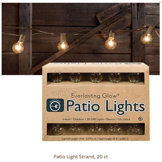 patio outdoor electric light set 20 ct