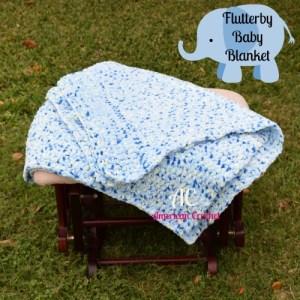 Flutterby Baby Blanket | Crochet Pattern | American Crochet @americancrochet.com #crochetpattern