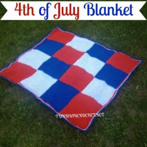 4th of July Blanket | American Crochet | @americancrochet.com