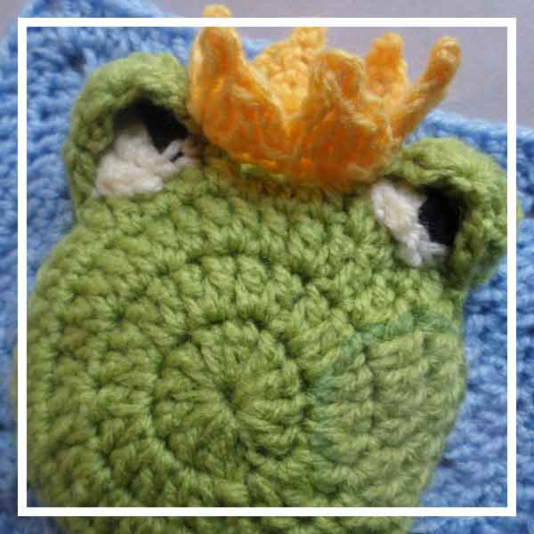 The Frog Prince | Free Crochet Pattern | American Crochet @americancrochet.com @creativecrochetworkshop.com #contributorpost #freecrochetpattern