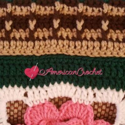 How to work solid rows onto squares crochet tutorial