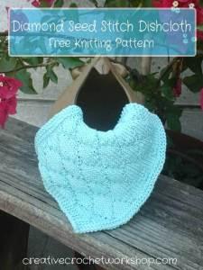 Diamond Seed Stitch Dishcloth