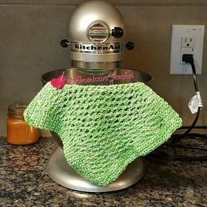 Double Moss Dishcloth | Crochet Pattern | American Crochet @americancrochet.com #crochetpattern