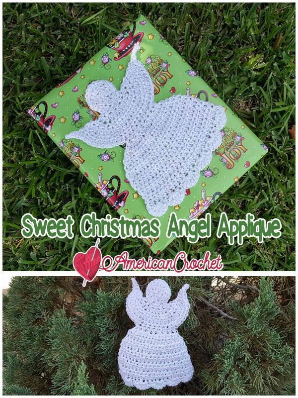Sweet Christmas Angel Applique | Crochet Pattern | American Crochet @americancrochet.com #crochetpattern