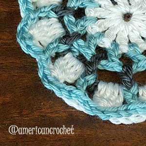 Audrey Circle in A Square | American Crochet @americancrochet.com