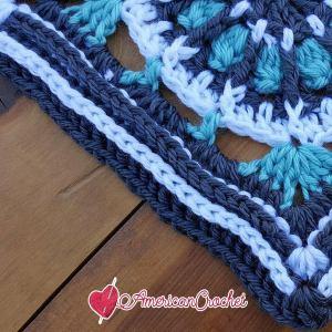 Catherine Circle in A Square | Free Crochet Pattern | American Crochet @americancrochet.com #freecrochetpattern #freecrochetalong