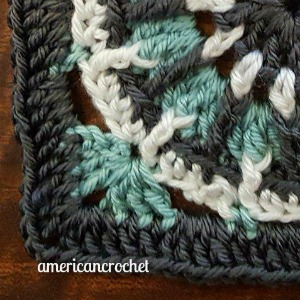 SARAH Circle in A Square   American Crochet @americancrochet.com