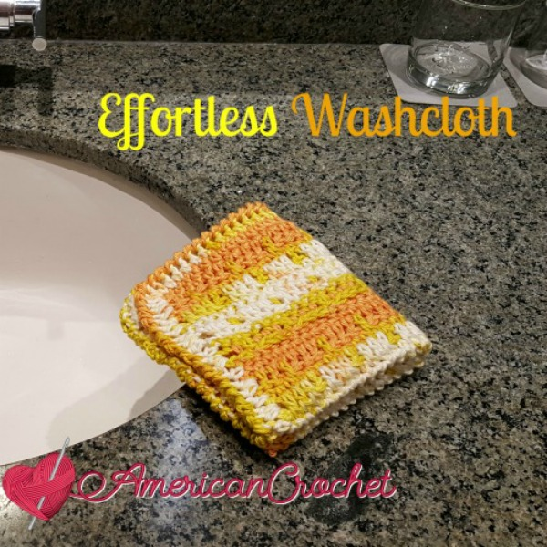 Effortless Washcloth | Free Crochet Pattern | American Crochet @americancrochet.com #freecrochetpattern