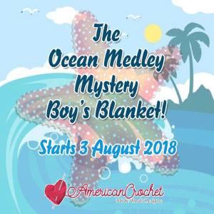 Ocean Medley Blanket Part Three | American Crochet @americancrochet.com
