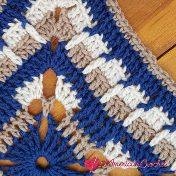 Blissfully Yours Square | Crochet Pattern | American Crochet @americancrochet.com #crochetpattern