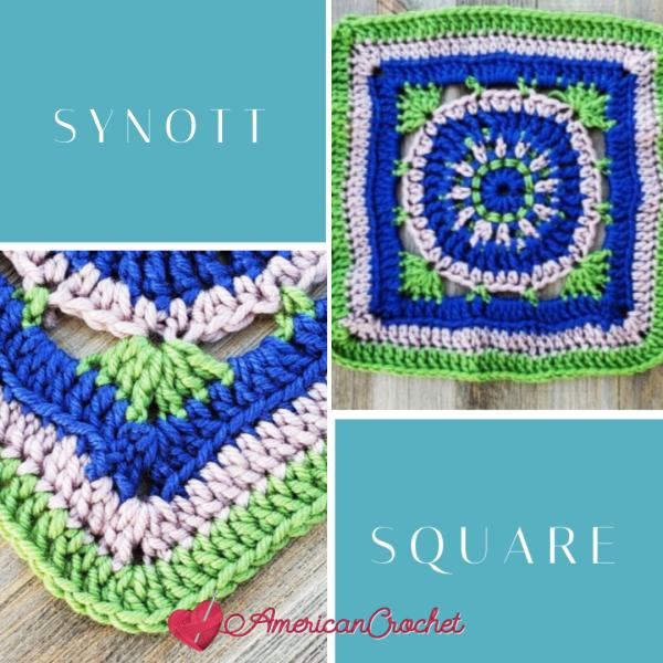 Synott Square   Crochet Pattern   American Crochet @americancrochet.com #crochetpattern