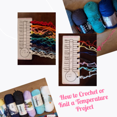 How to Crochet or Knit A Temperature Blanket