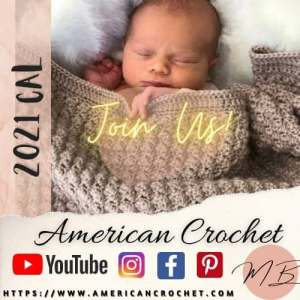 Frosty Kisses Blanket Part One | American Crochet @americancrochet