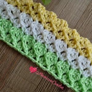 Cashton Baby Blanket   American Crochet @americancrochet.com