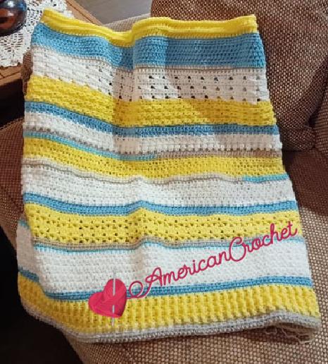 Happy Throw Two Part Fifteen | American Crochet @americancrochet