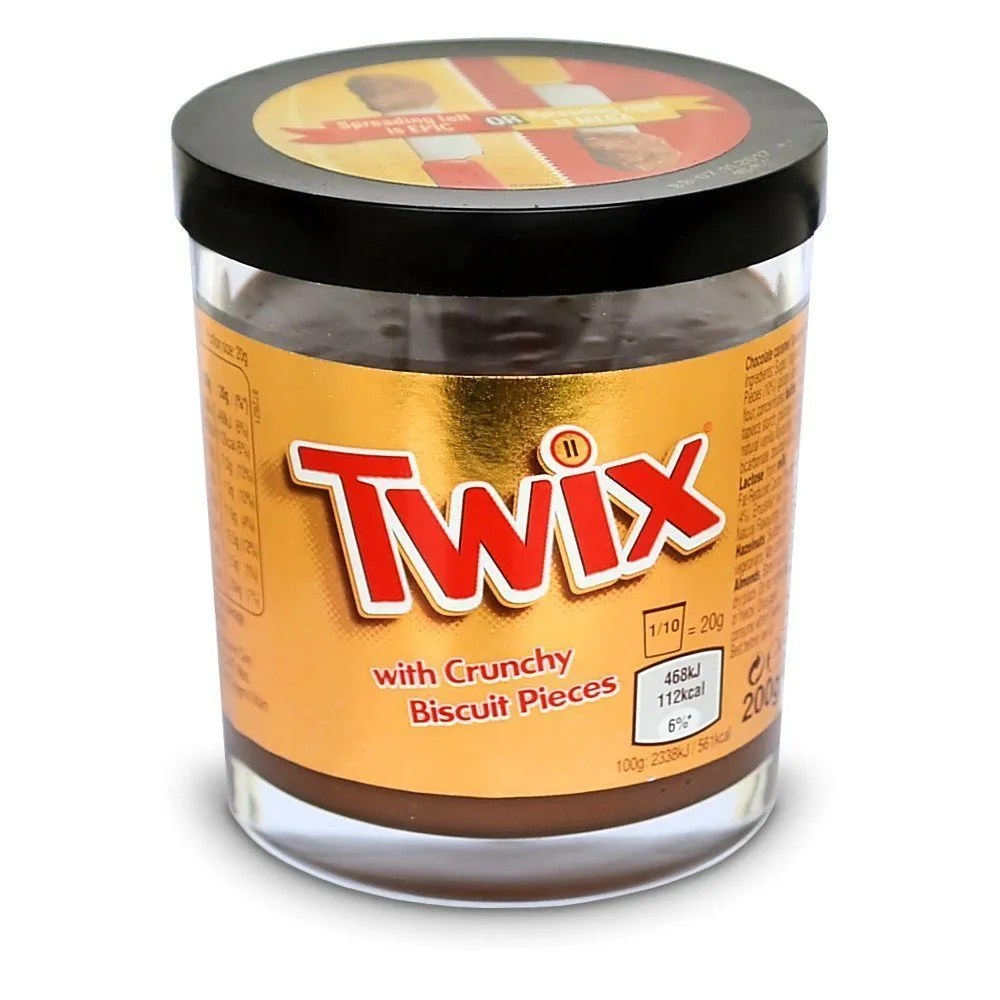 Twix With Crunchy Biscuit Pieces Spread Twix Creme