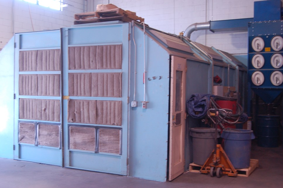 The Plastic Media Blasting Booth at American Dry Stripping