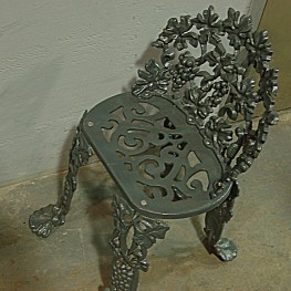 Wrought Iron Garden Chair after powder coating
