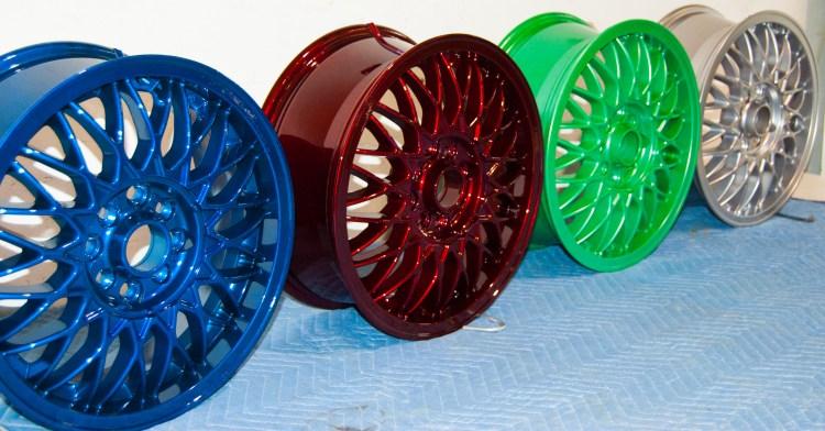 powder coating services wheels