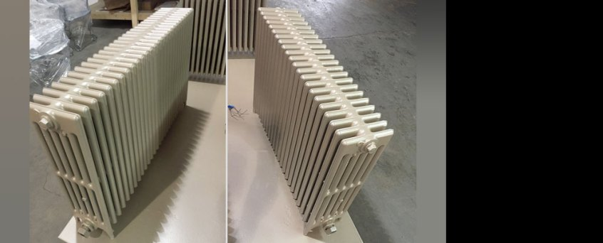 Get ready for Winter: cast iron radiator after blasting