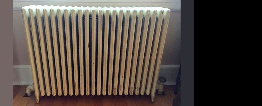 Get ready for Winter: cast iron radiator with rust and corrosion