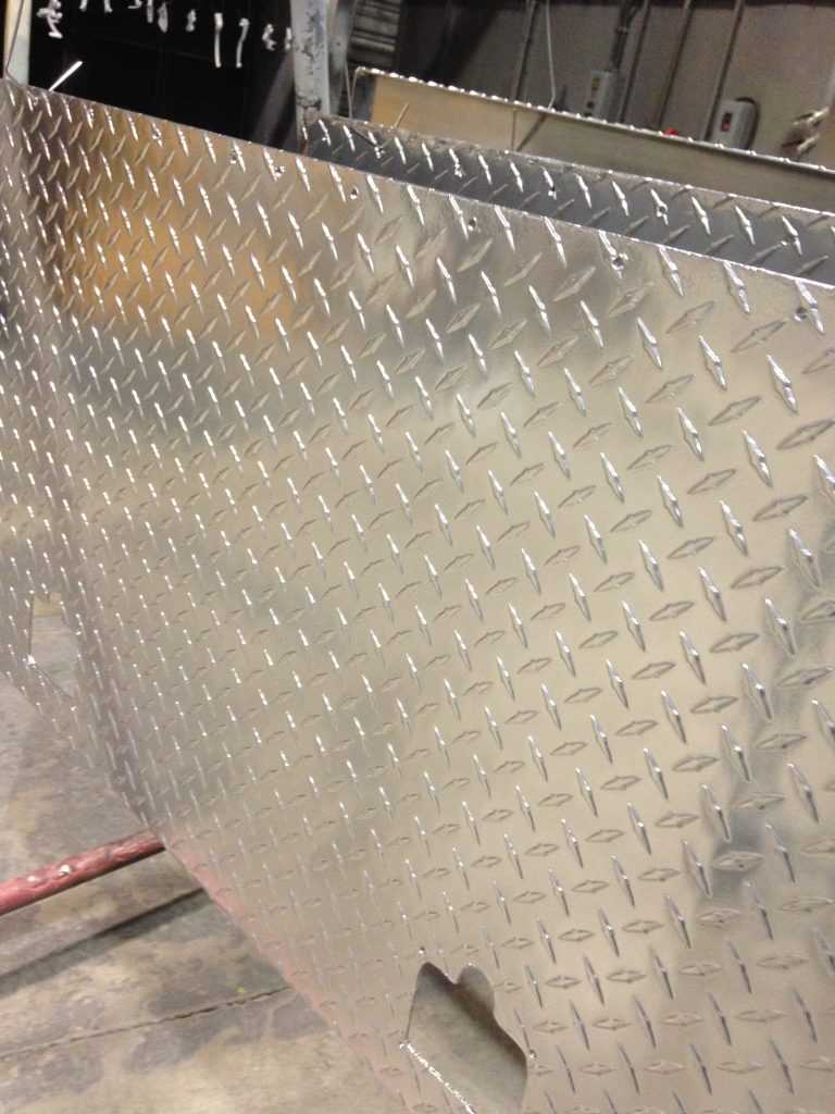 Diamond Plates Coated with Aluminum Chrome Powder Coating - Xtreme Temperature Coatings CT