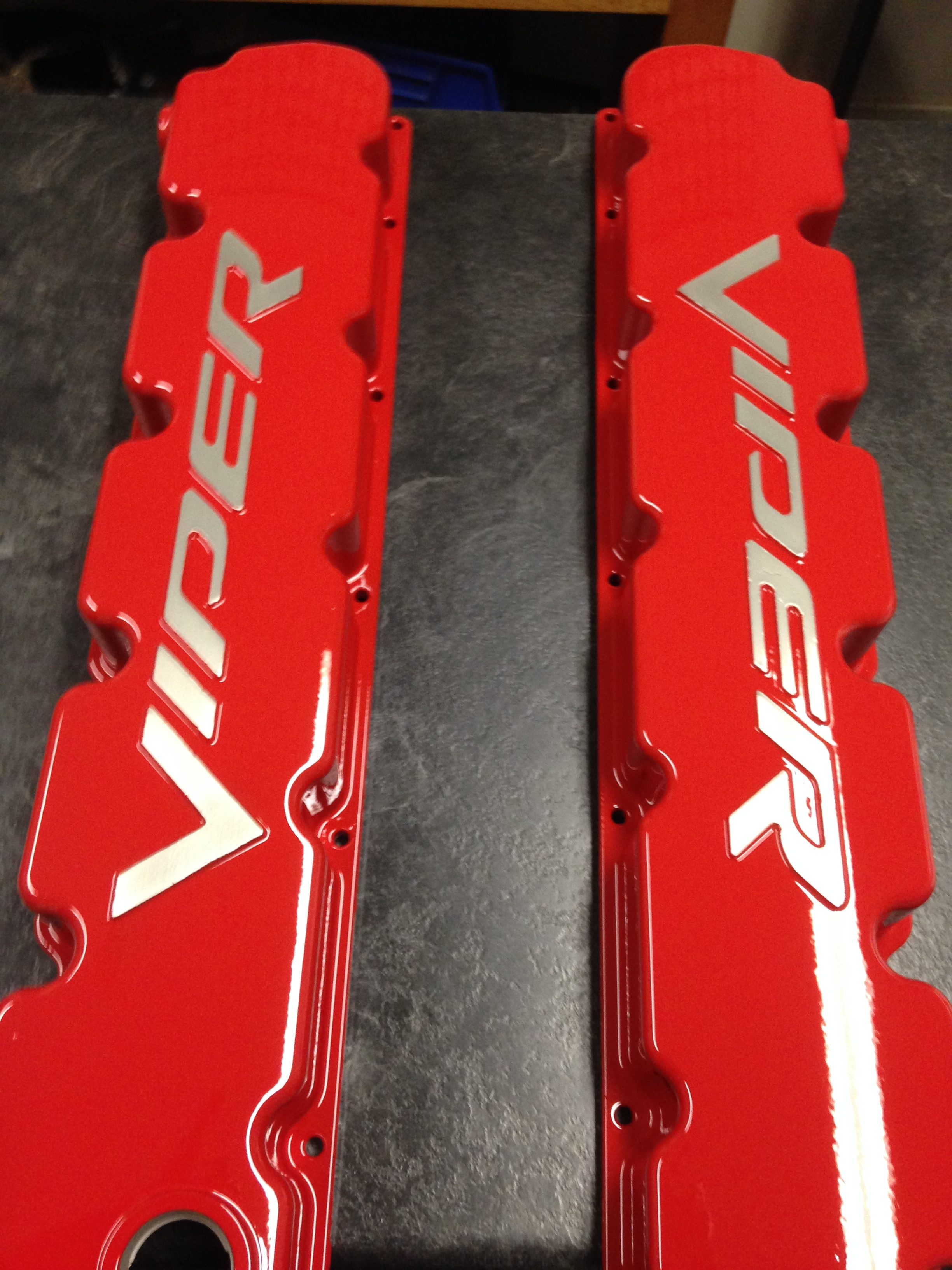 Dodge Viper Valve Cover - Powder Coating - Xtreme Temperature coatings CT
