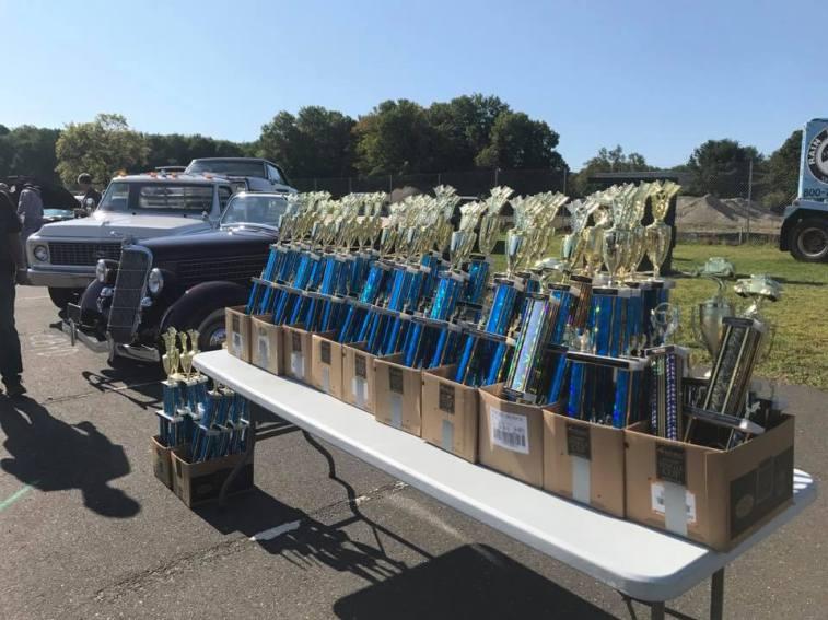 Reach Newtown Car Show trophies