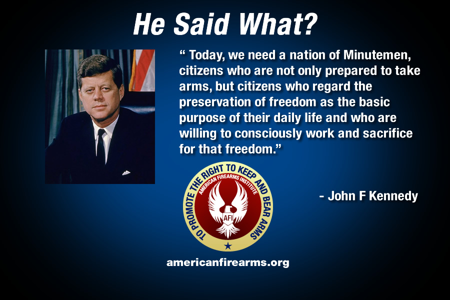 jfk quotes on guns