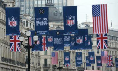 NFL FLAGS REGENT STREET LONDON