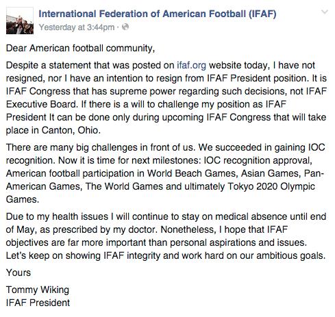 IFAF Facebook