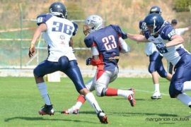 #23 Juzz Tiny noted two TDs for Crusaders