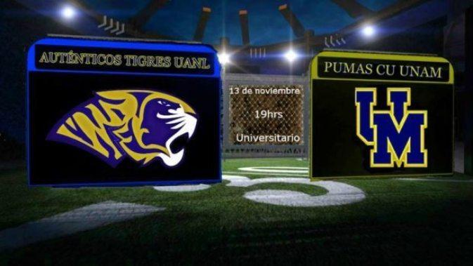 Mexico - ONEFA - Tigres v Pumas - final poster