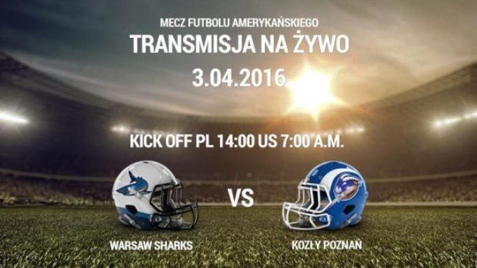 Poland - Warsaw Sharks gameday poster 2016