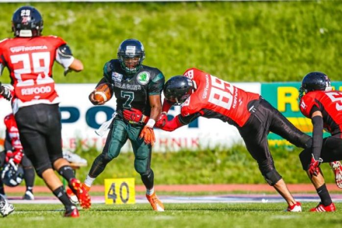 IFAF Europe - 2016 Champions League - Dragons-Devils action.2