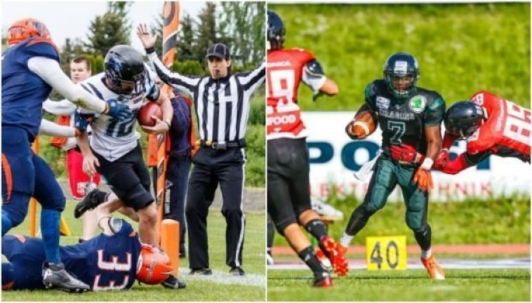 IFAF Europe - 2016 Champions League - Panthers-Dragons - 2pic - QBs