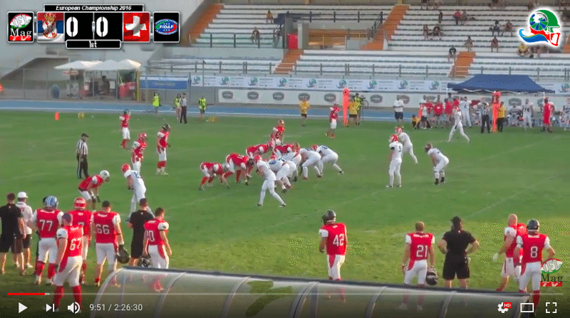 IFAF Europe - 2016 Qualifying tournament - Italy-Serbia - action