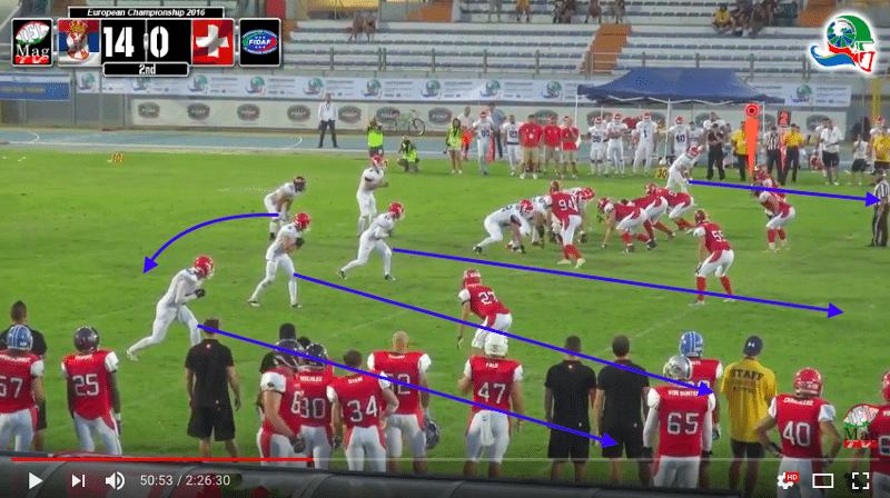 IFAF Europe - 2016 Qualifying tournament - Italy-Serbia - action9