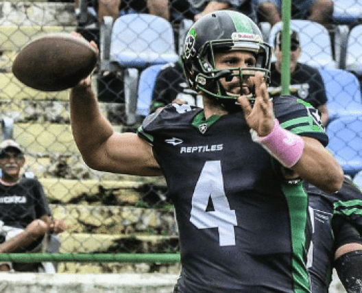 Botafogo Reptiles quarterback, Ramon Matire. Photo credit: Jayson Braga