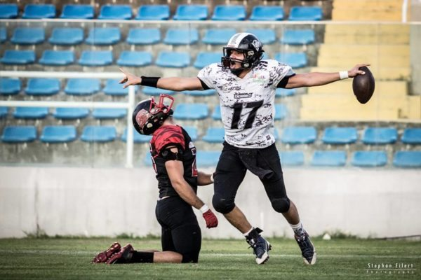 Ceara Caçadores star quarterback, Romário Reis, and his sqad, will be looking for a national title in 2017. Photo credit: Stephan Eilert Photography