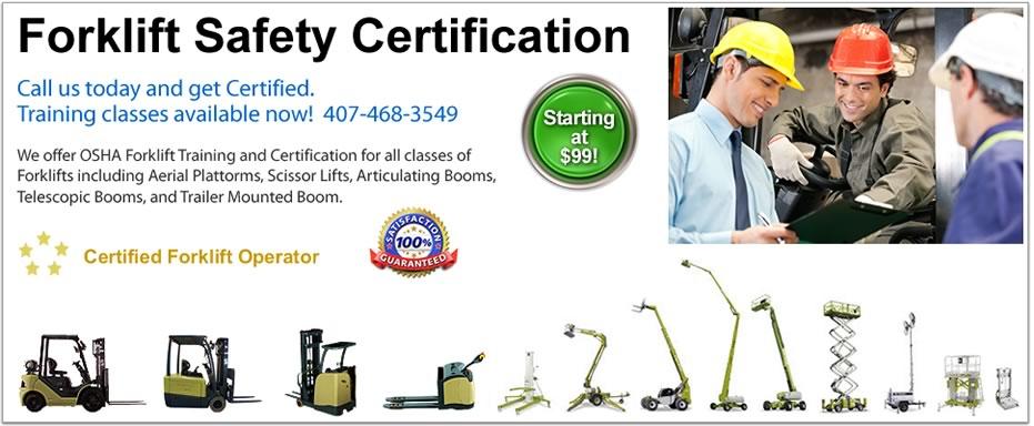 Forklift Safety Training Orlando Fl Lift Certification