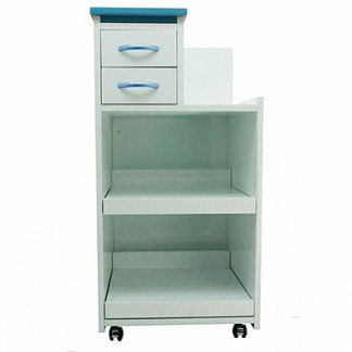 Assistant's Cabinet Cart With Multi-Functional Drawers & Wheels