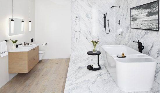 elegant white bathroom | American Home Services | Dream Bathroom Orlando